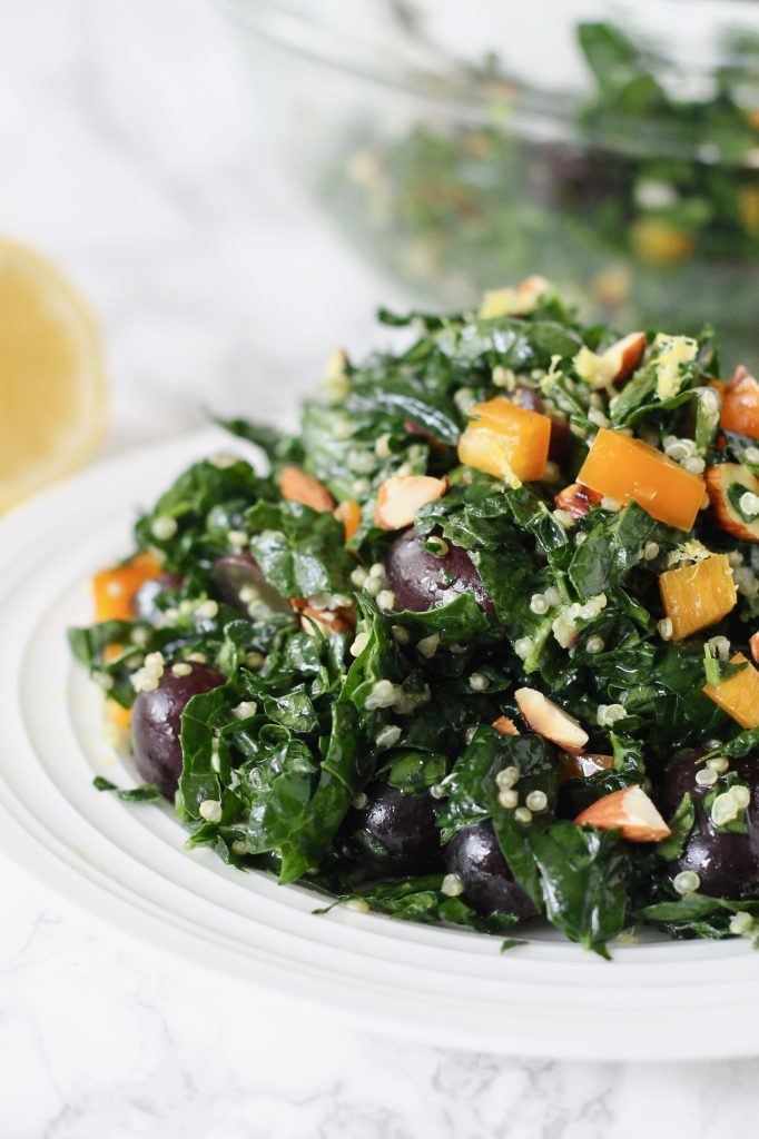 Kale and Quinoa Salad with Lemon Vinaigrette ll www.littlechefbigappetite.com