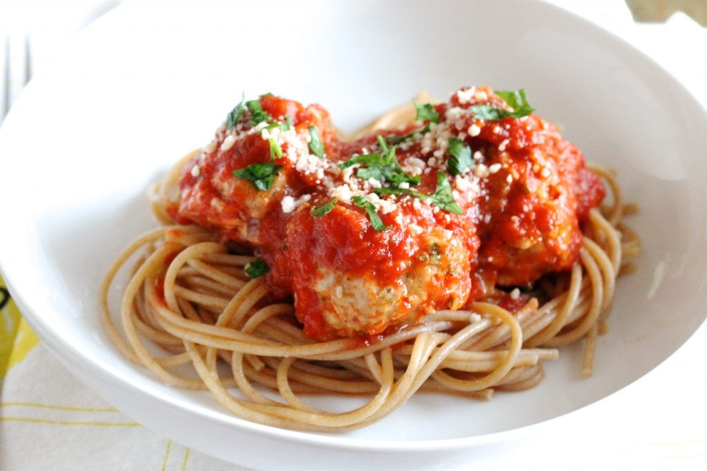 These are THE BEST Turkey Meatballs! They're healthy and SO delicious! Make a large batch because they'll go quickly! ll www.littlechefbigappetite.com ll Healthy Turkey Recipe, Ground Turkey Recipe, Healthy Meatball Recipe, Gluten-Free Turkey Meatballs