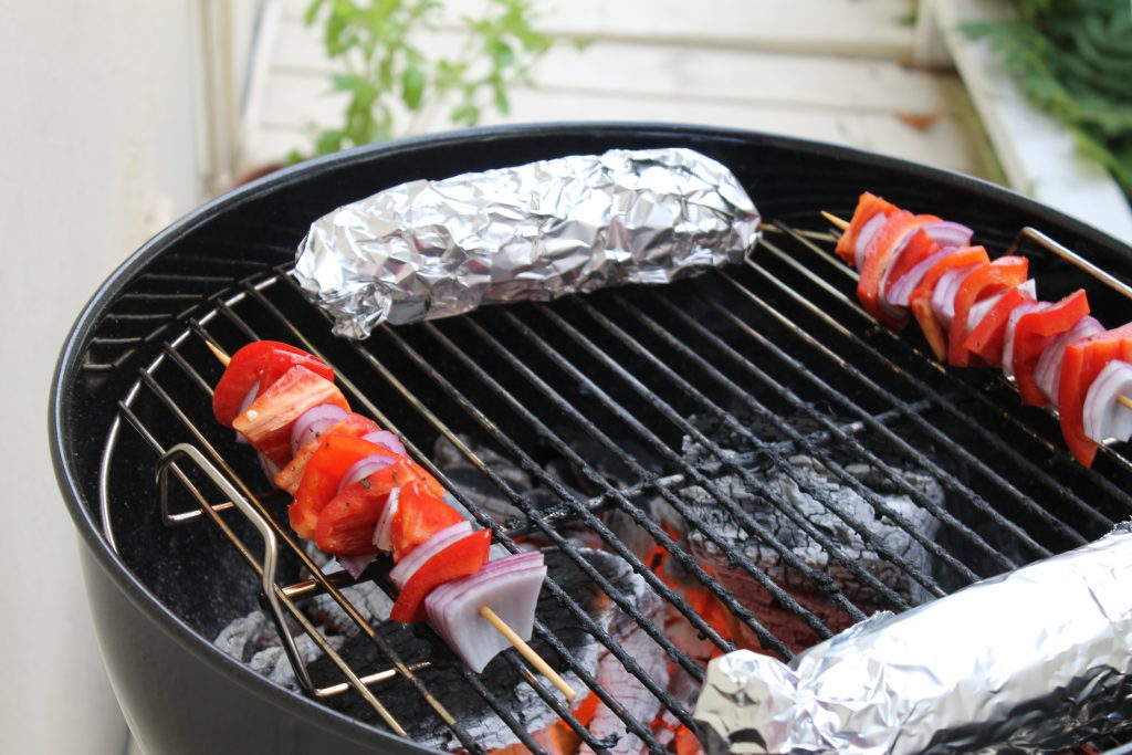 Weber Charcoal Grilled with Vegetable Kebabs | www.littlechefbigappetite.com