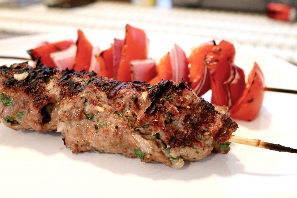 Juicy Grilled Ground Beef Kebabs (Kofta) | www.littlechefbigappetite.com