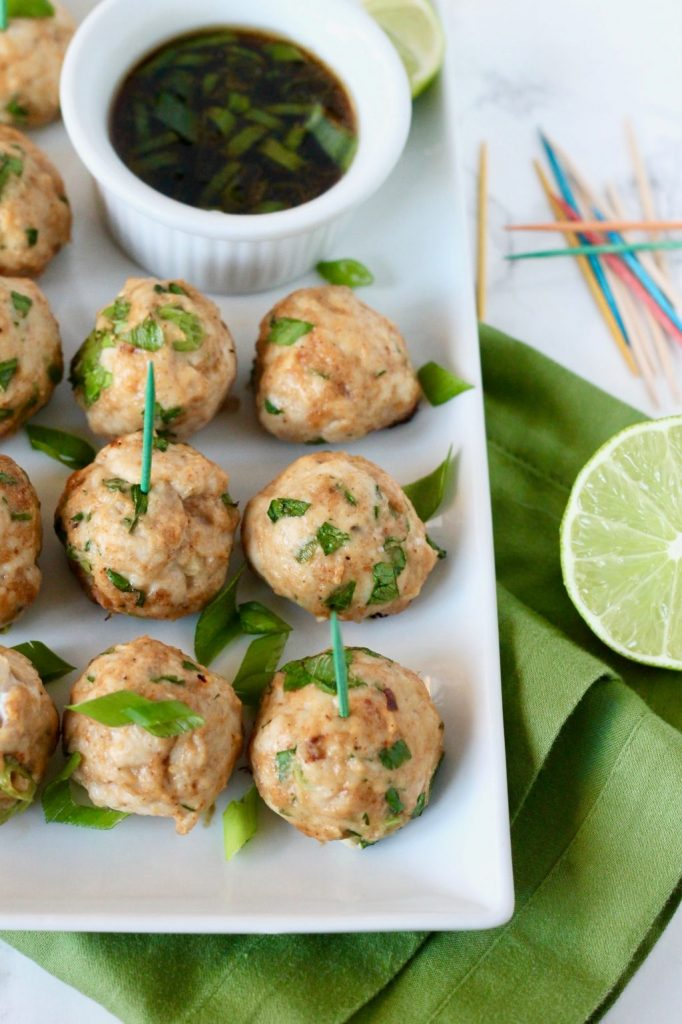 Asian Turkey Meatballs with Sesame Soy Dipping Sauce // www.littlechefbigappetite.com 3