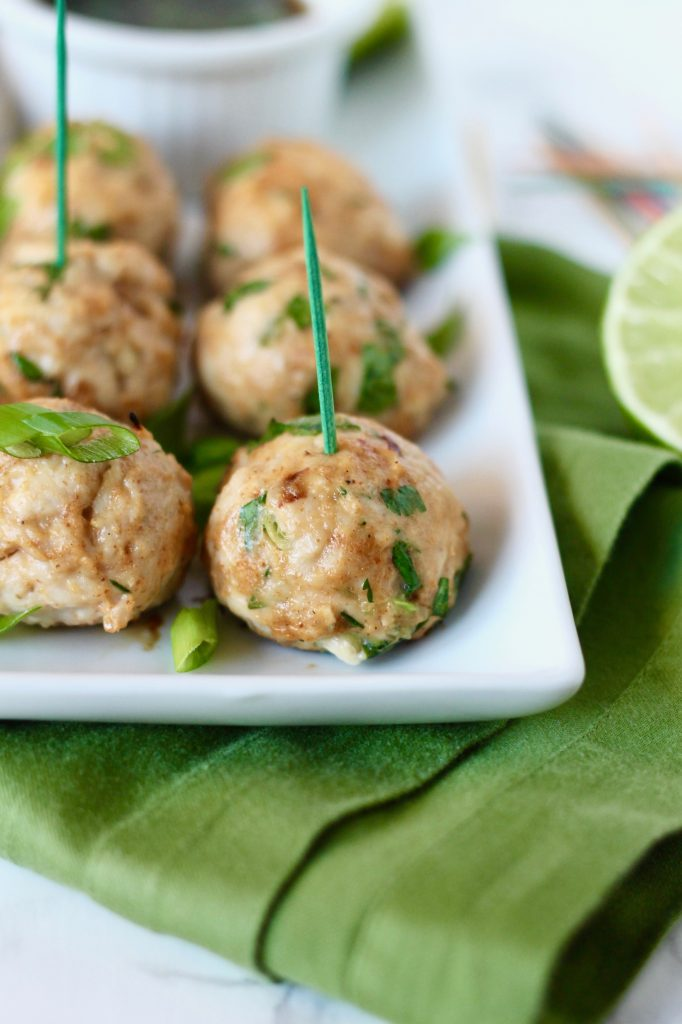 Asian Turkey Meatballs with Sesame Soy Dipping Sauce | www.littlechefbigappetite.com 1