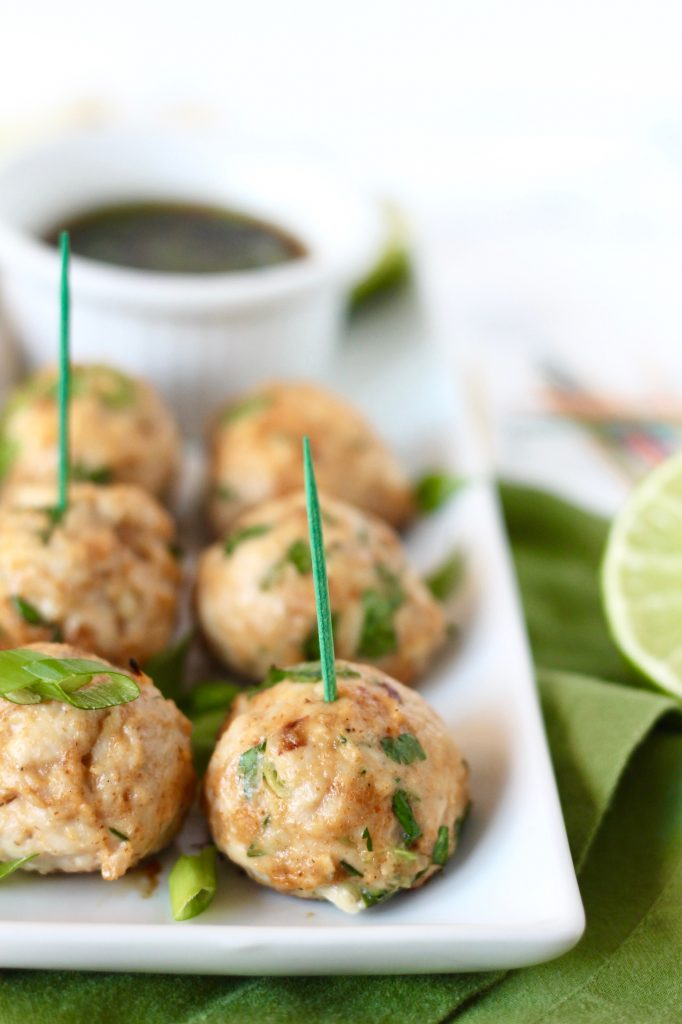 Asian Turkey Meatballs with Sesame Soy Dipping Sauce // www.littlechefbigappetite.com 2