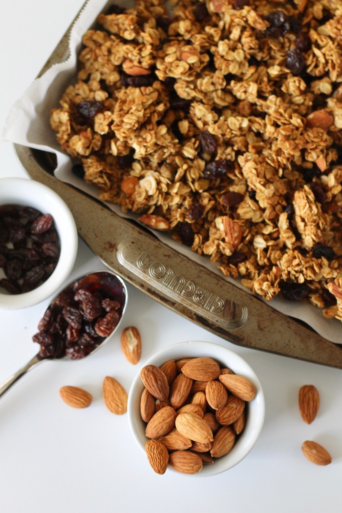 Chunky Cardamom Granola with Almonds and Pistachios
