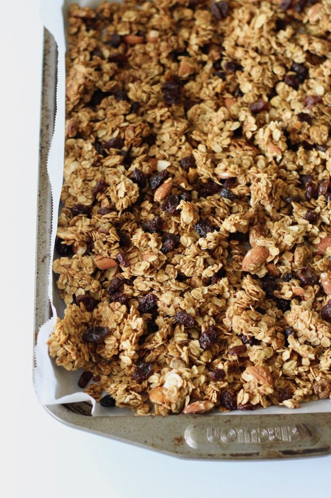 Cardamom Granola with Almonds and Pistachios | www.littlechefbigappetite.com 8