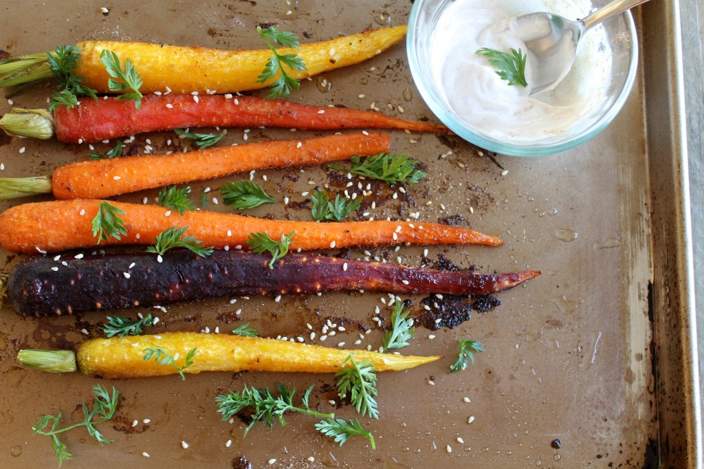 Roasted Carrots with Spiced Greek Yogurt Recipe | www.littlechefbigappetite.com 4