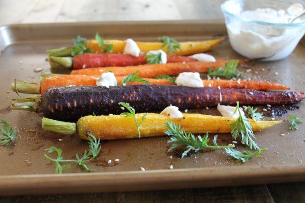 Roasted Carrots with Spiced Greek Yogurt | www.littlechefbigappetite.com