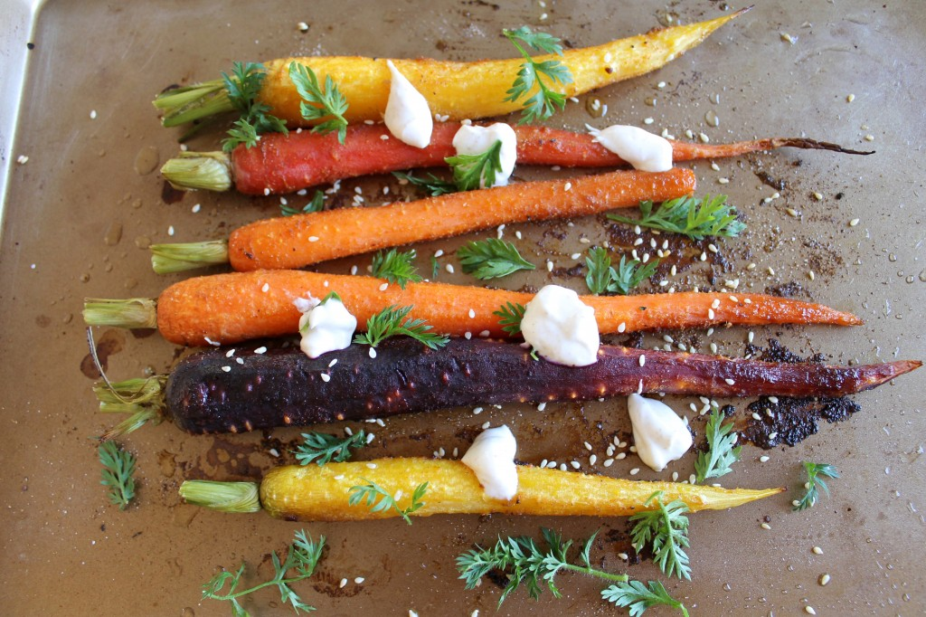 Roasted Carrots with Spiced Greek Yogurt Recipe | www.littlechefbigappetite.com 5