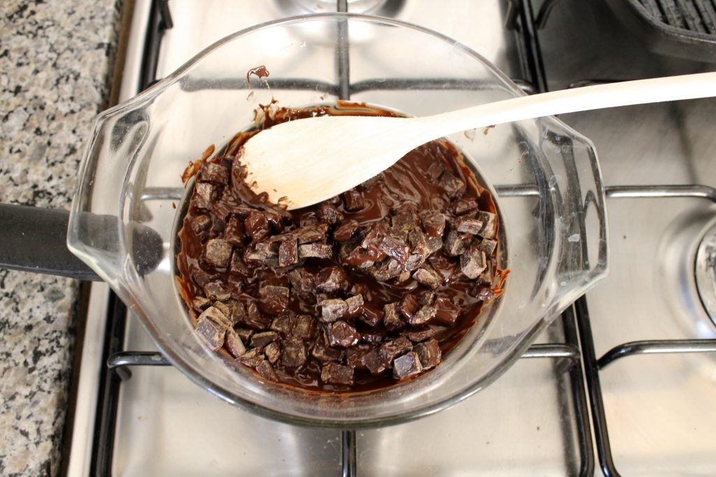 Makeshift Double Boiler Melting Chocolate | littlechefbigappetite.com 2