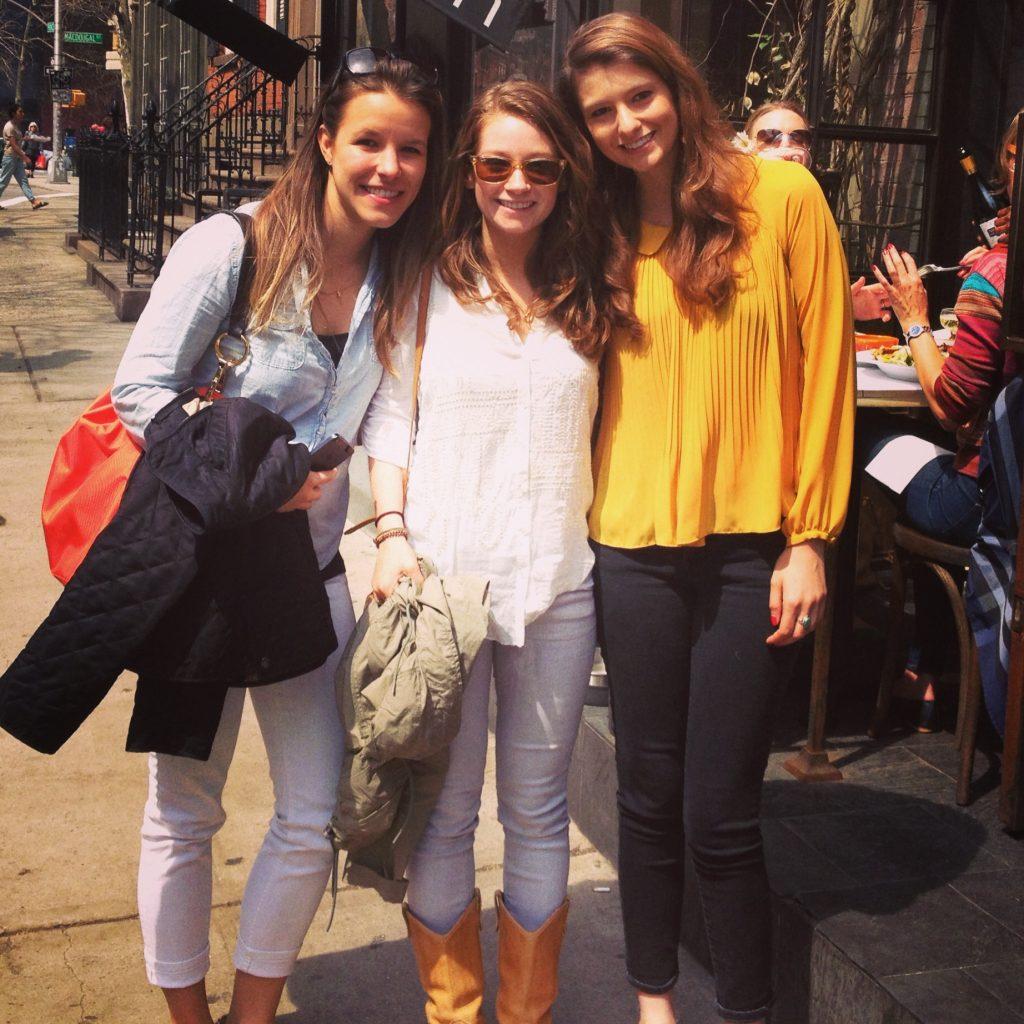 Caroline Rachel and Kelsey in NYC Penn Tridelta | www.littlechefbigappetite.com