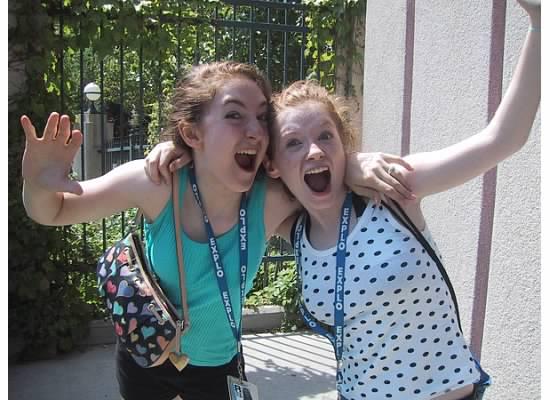 Rachel and Erica Camp Explo