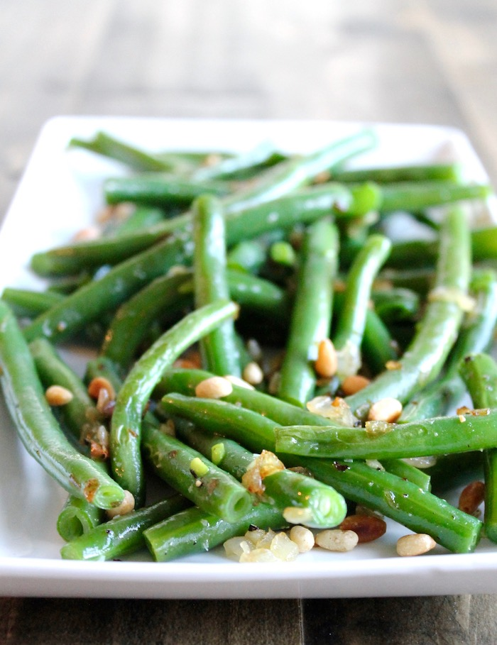 Green Beans with Shallots and Pine Nuts | www.littlechefbigappetite.com 3