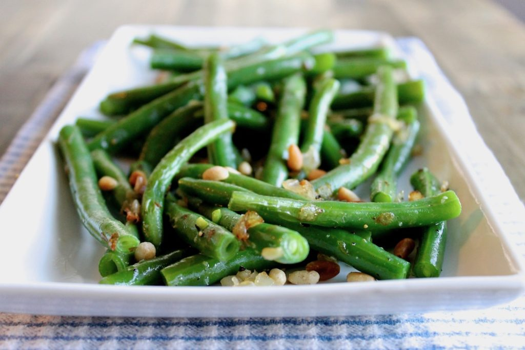 Green Beans with Shallots and Pine Nuts | www.littlechefbigappetite.com 2
