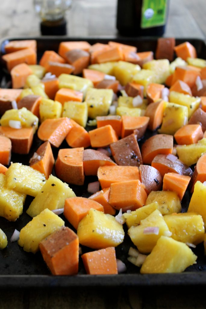 Roasted Pineapple and Sweet Potatoes   www.littlechefbigappetite.com 1