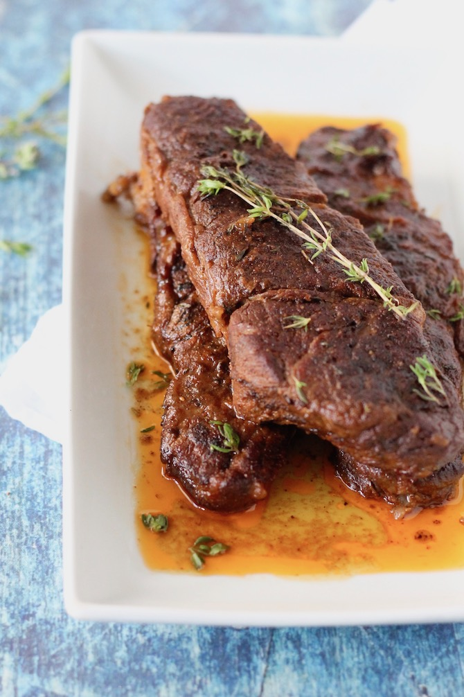 Barbecue Slow Cooker Short Ribs | www.littlechefbigappetite.com