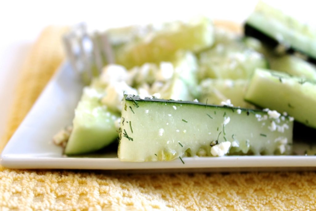 Cucumber Spears with Feta and Dill Recipe | www.littlechefbigappetite.com 3