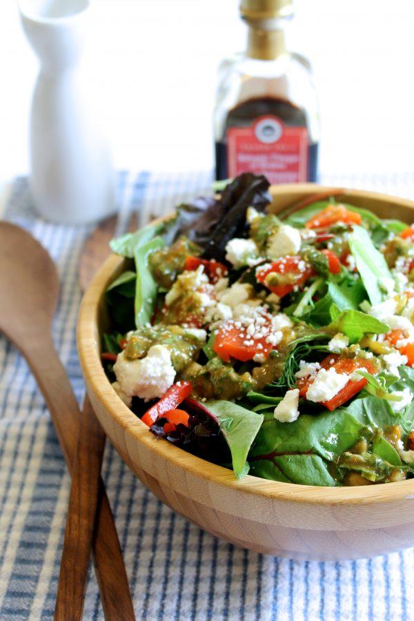 Homemade Tomato Basil Vinaigrette | littlechefbigappetite.com 1