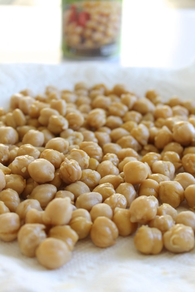 Chickpeas on a White Plate | www.littlechefbigappetite.com
