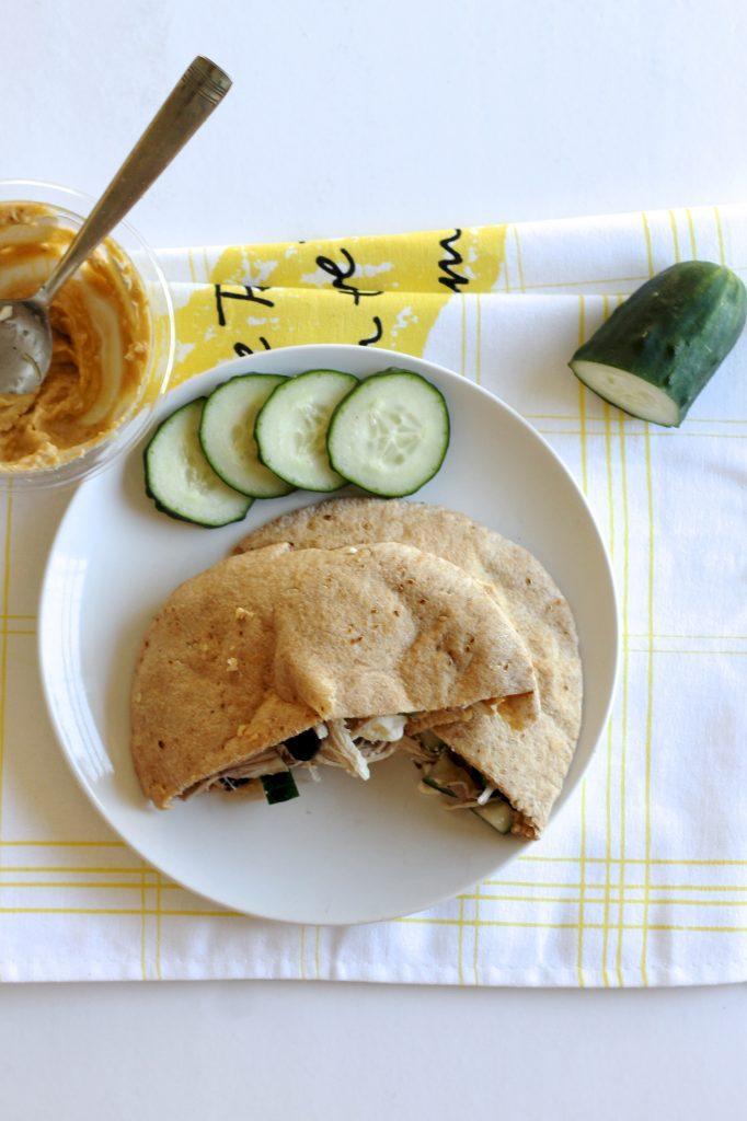 Mediterranean Chicken Pita Sandwiches Recipe | littlechefbigappetite.com 2
