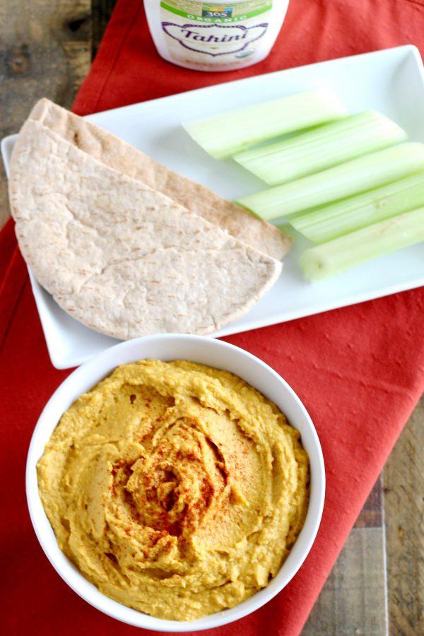 Pumpkin Hummus Recipe | www.littlechefbigappetite.com