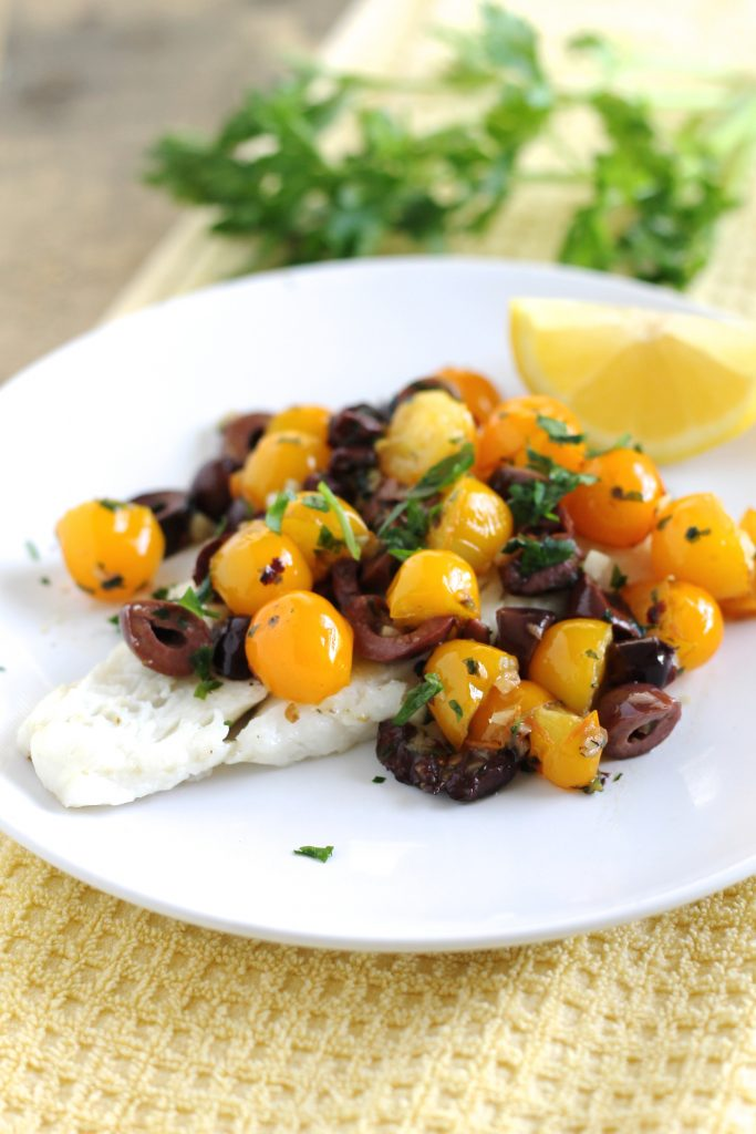 Cod with Cherry Tomatoes and Kalamata Olives | www.littlechefbigappetite.com 4