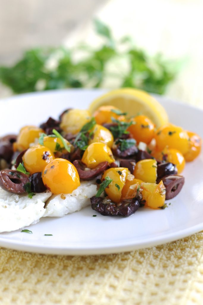Cod with Cherry Tomatoes and Kalamata Olives | www.littlechefbigappetite.com 2