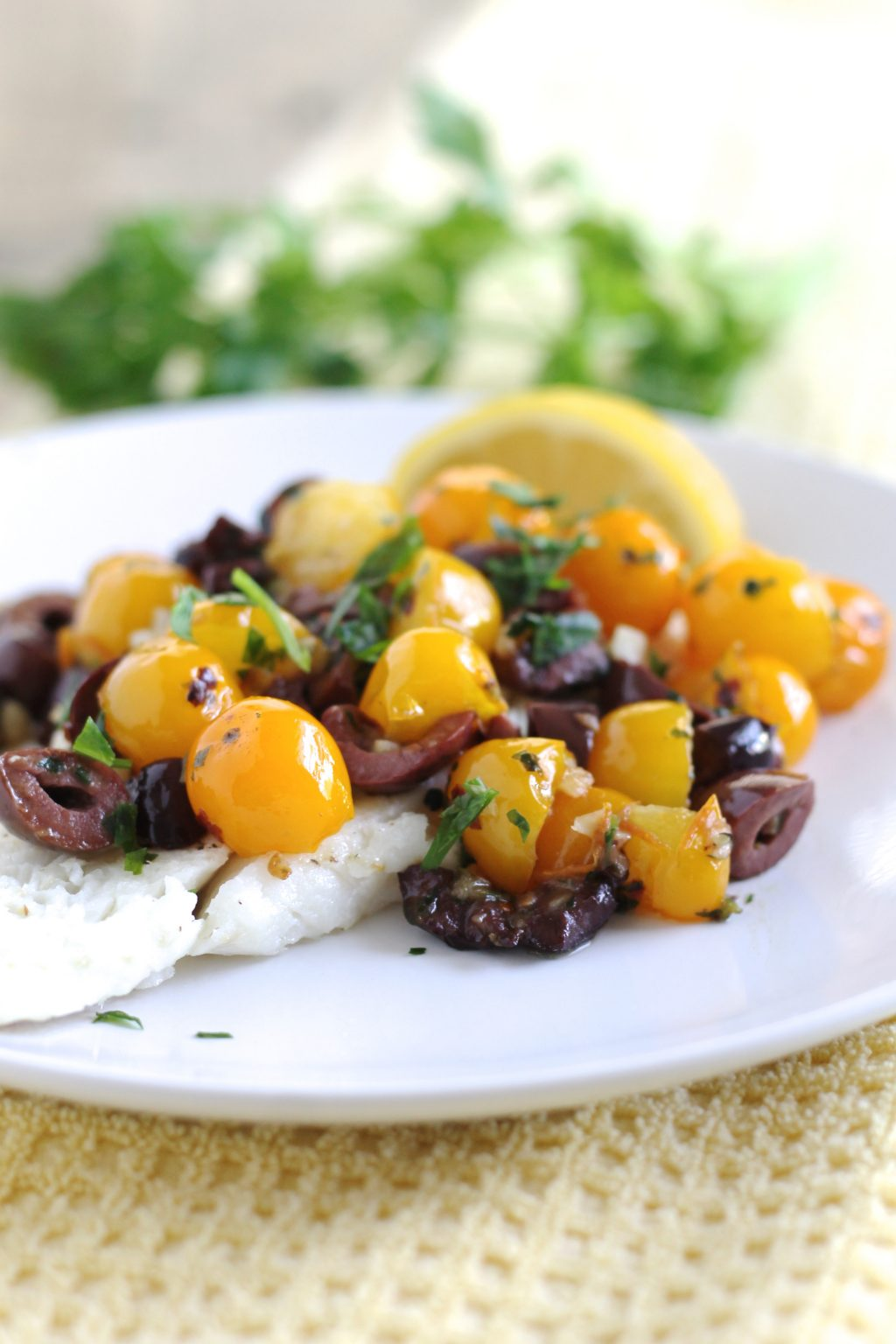 Cod with Cherry Tomatoes and Kalamata Olives Recipe | www.littlechefbigappetite.com 3