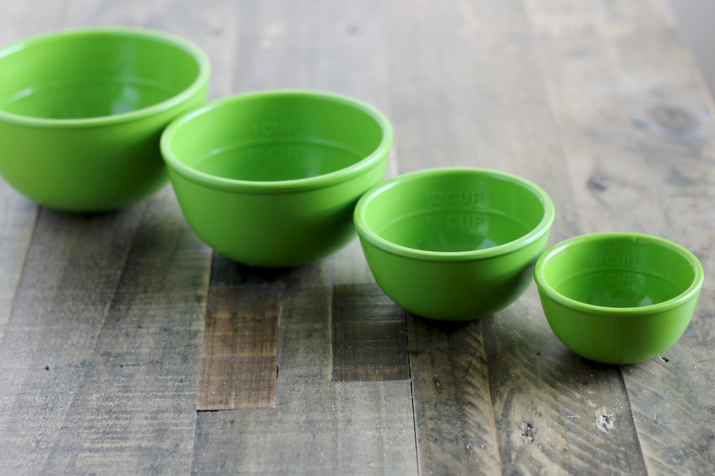 Sur La Table Green Measuring Nesting Bowls | www.littlechefbigappetite.com