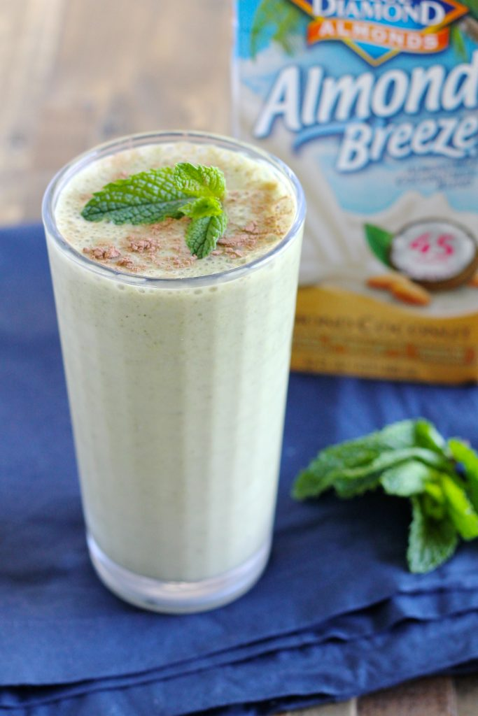 Mint Chocolate Protein Smoothie | www.littlechefbigappetite.com 1