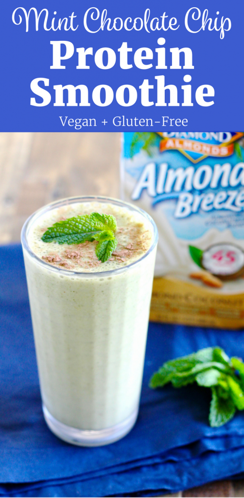 Mint Chocolate Protein Smoothie | www.littlechefbigappetite.com Pinterest