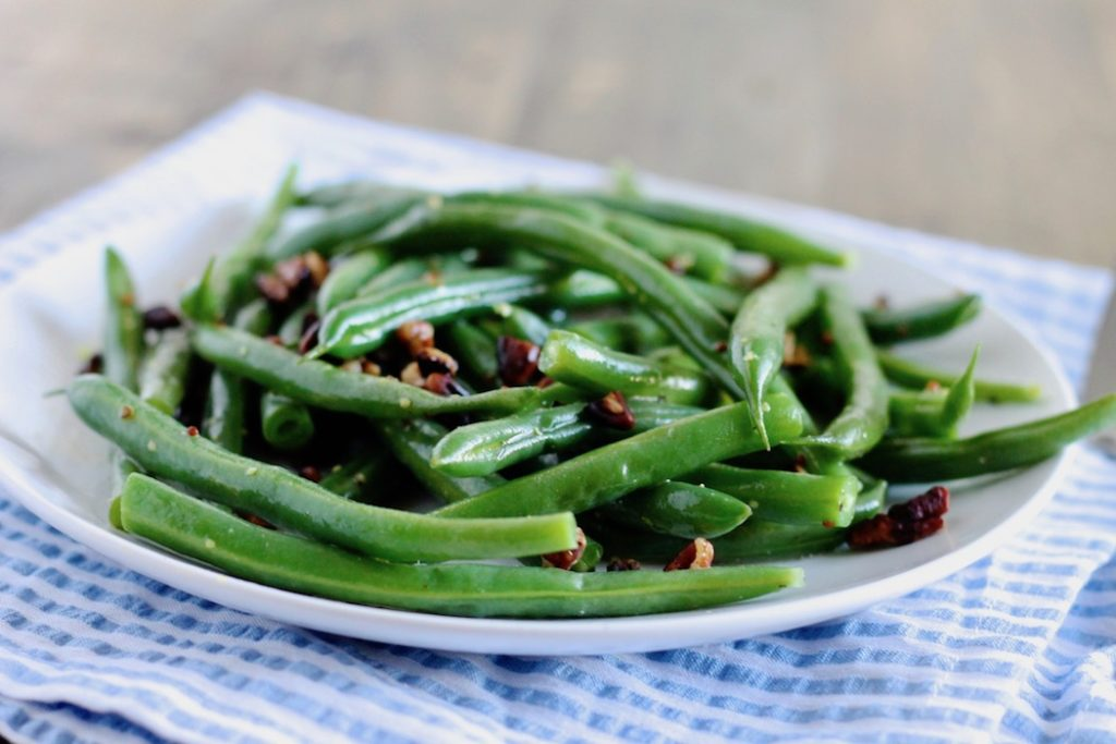 Honey Mustard Green Beans with Pecans | www.littlechefbigappetite.com 2