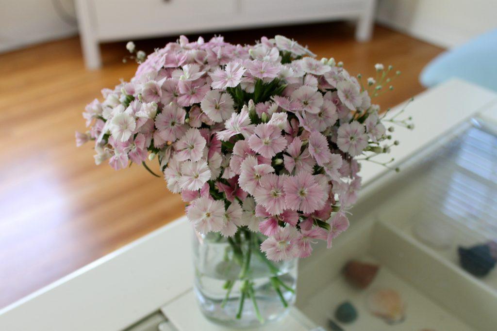 Pink Farmers Market Flowers | www.littlechefbigappetite.com