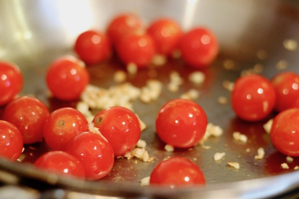 Tomatoes in a Skillet | www.littlechefbigappetite.com