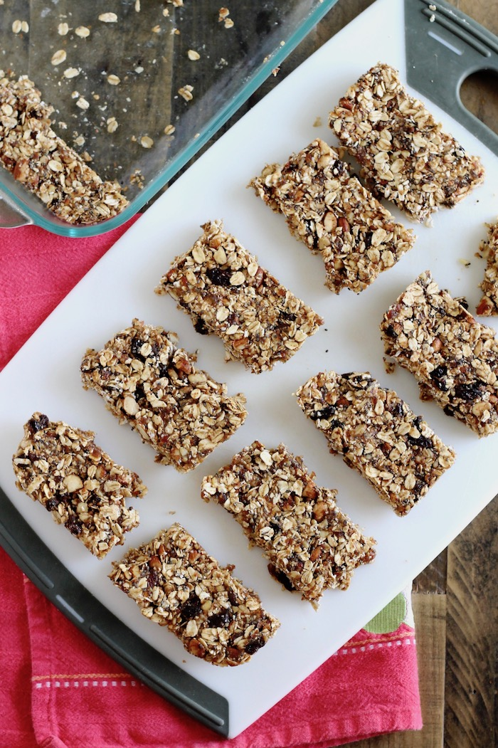 No Bake Granola Bars with Nuts and Oats | www.littlechefbigappetite.com 1