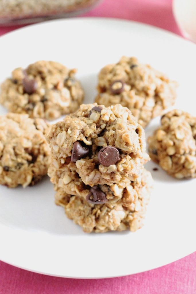 Gluten-Free Peanut Butter Oatmeal Cookies with Chocolate Chips and Raisins | www.littlechefbigappetite.com 2