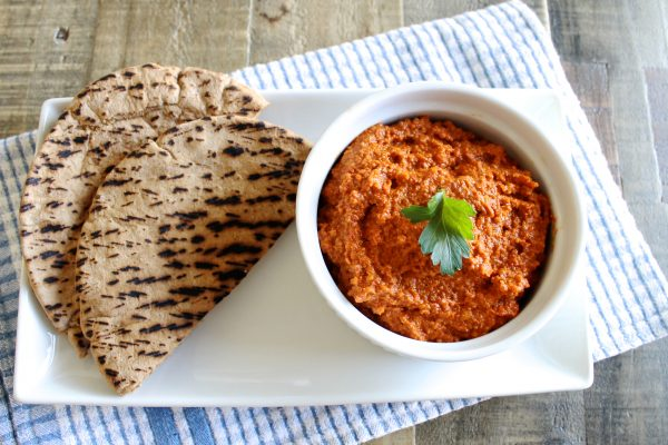 Muhammara (Roasted Red Pepper and Walnut Dip) | www.littlechefbigappetite.com