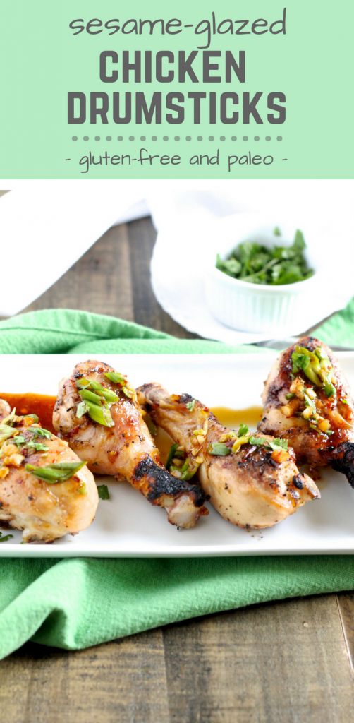 Sesame-Glazed Chicken Drumsticks Recipe - Healthy & Delicious - www.littlechefbigappetite.com