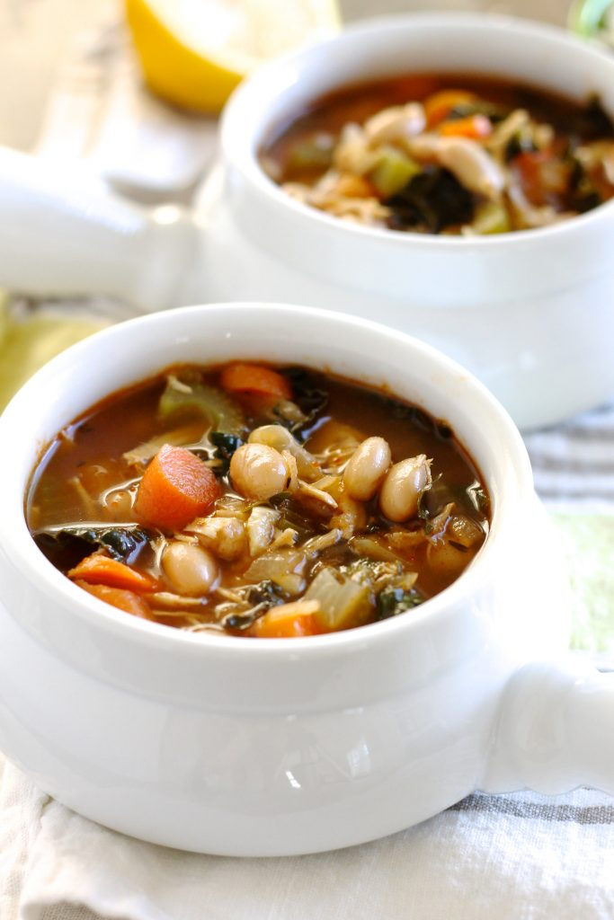 Tuscan White Bean Soup with Chicken | www.littlechefbigappetite.com 1