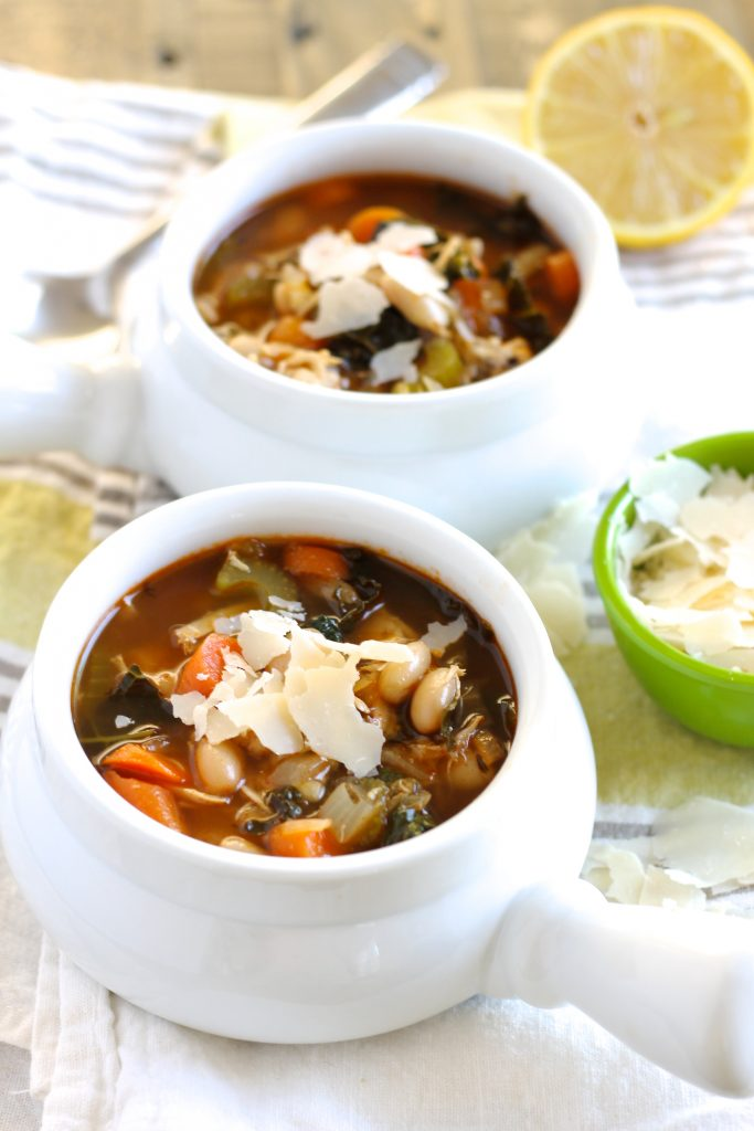 Tuscan White Bean Soup with Chicken | www.littlechefbigappetite.com 3