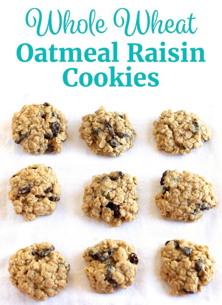 Whole Wheat Oatmeal Raisin Cookies Pinterest   www.littlechefbigappetite.com