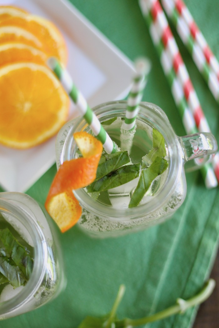 White Wine Spritzer with Basil and Orange | www.littlechefbigappetite.com 3