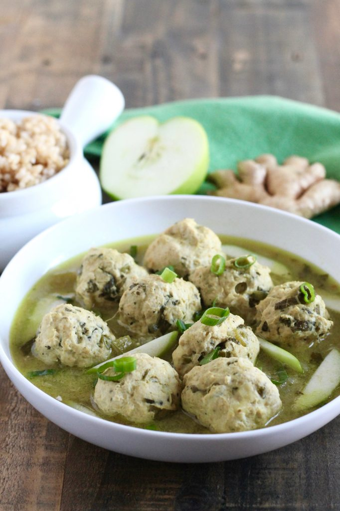 Chicken Meatballs with Green Curry and Apples ll thai-inspired and gluten-free ll www.littlechefbigappetite.com 1