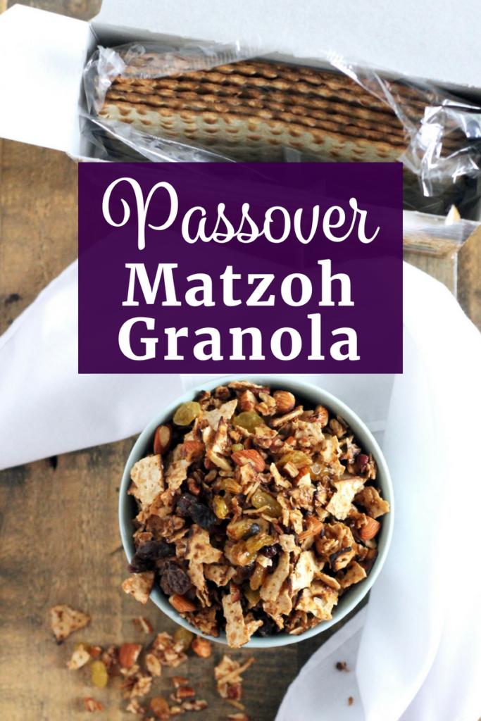 Passover Matzoh Granola   www.littlechefbigappetite.com