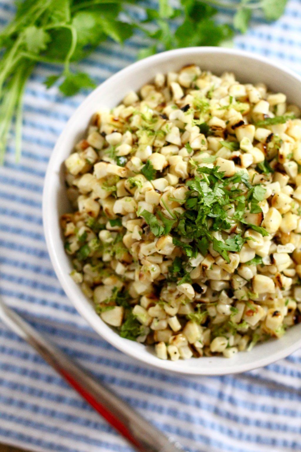 Healthy Lime Corn Salad Recipe | www.littlechefbigappetite.com