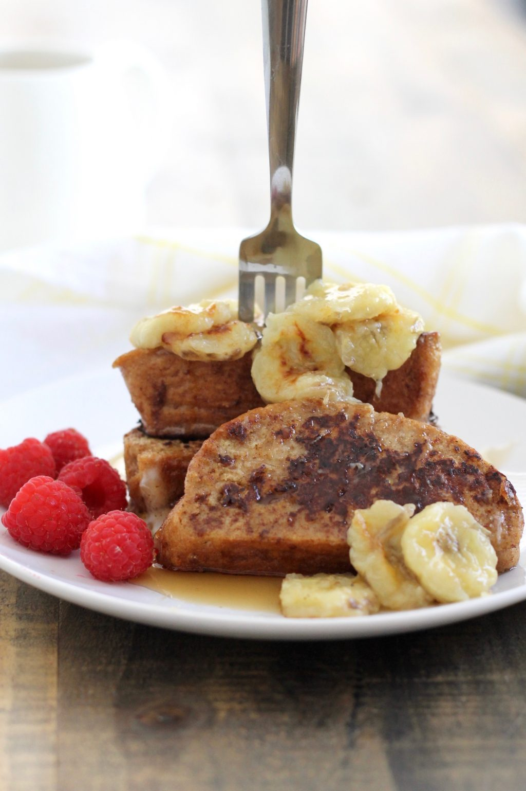 Challah French Toast with Caramelized Bananas | www.littlechefbigappetite.com 4