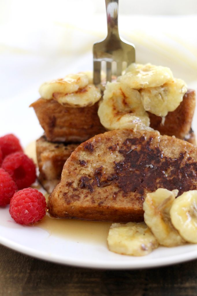 Challah French Toast with Caramelized Bananas | www.littlechefbigappetite.com 1