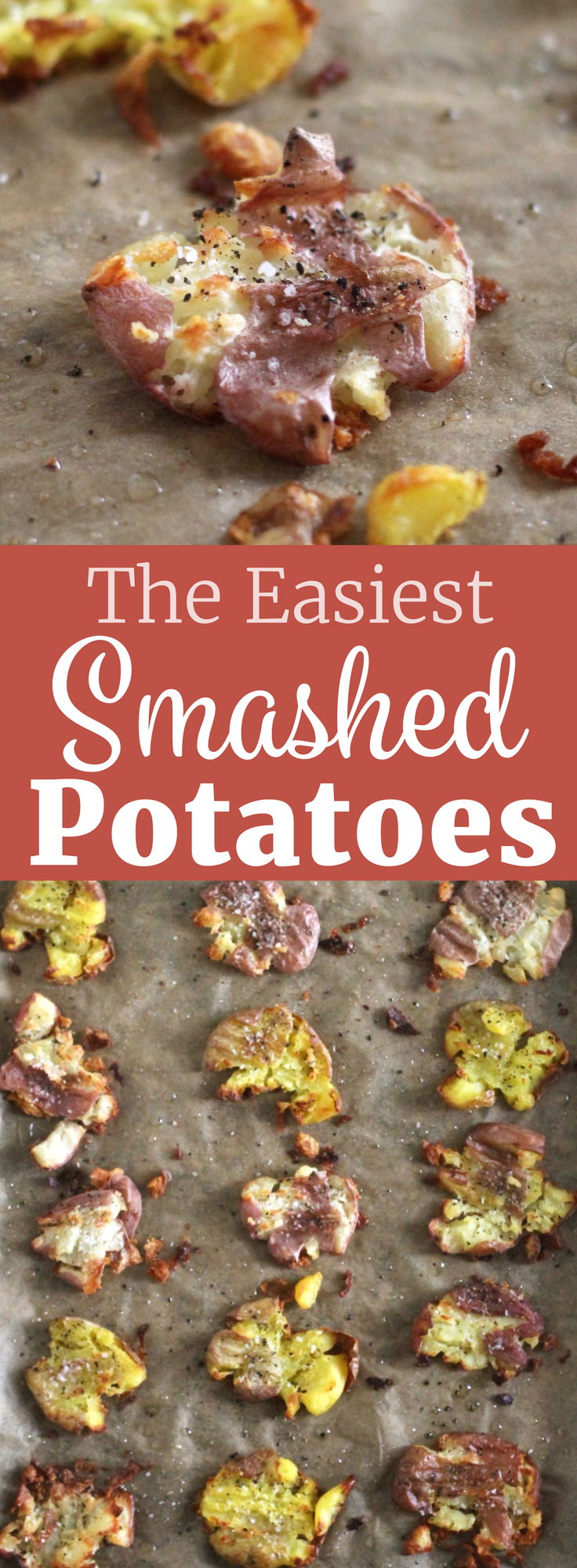 The Easiest Smashed Potatoes Recipe. A delicious vegan & gluten-free side dish! ll www.littlechefbigappetite.com