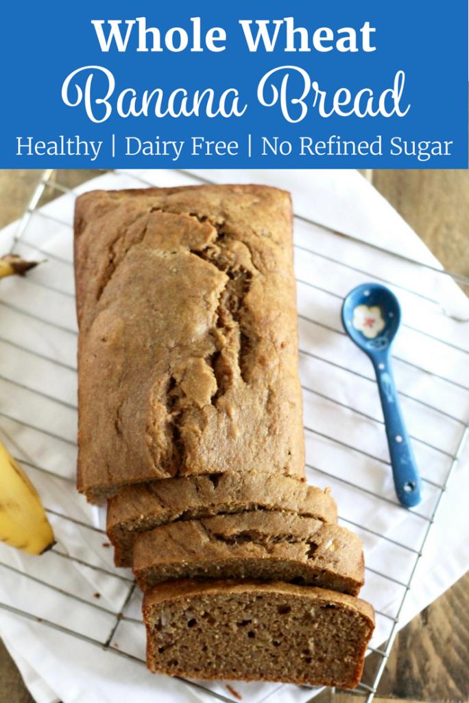 Healthy Whole Wheat Banana Bread | www.littlechefbigappetite.com