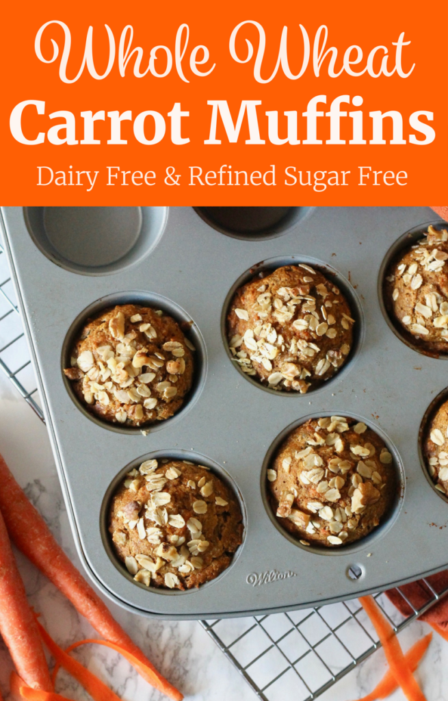 Whole Wheat Carrot Muffins with Walnuts | www.littlechefbigappetite.com