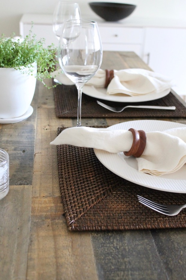 Crate and Barrel Brown Placemats